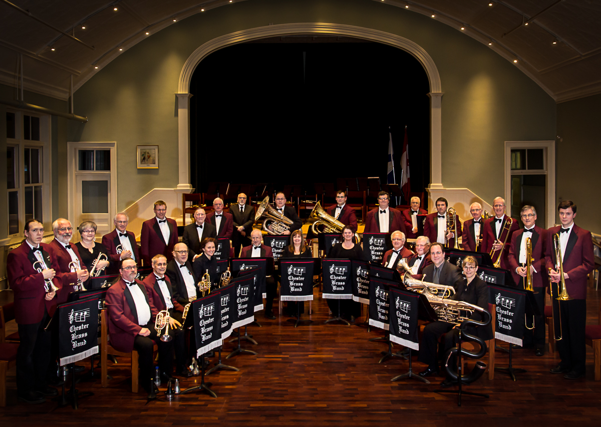 Chester Brass Band group portrait.