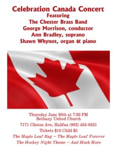 Celebration Canada Concert @ Bethany United Church | Halifax | Nova Scotia | Canada